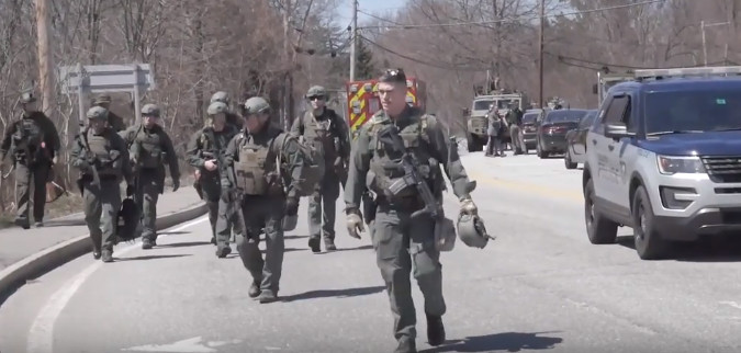 Video of Insane Militarized Police State Response to Alleged Armed Man in Keene Home